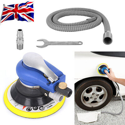 "6"" Air Random Orbital Palm Sander 150mm DA Dual Action Car Pneumatic Sanding Kit"