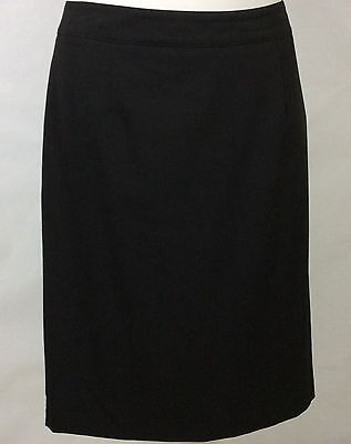 NEW womens black RELATIVITY pencil Skirt / Side Zip Lined knee length Size 12