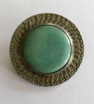 Antique arts and crafts pewter brooch