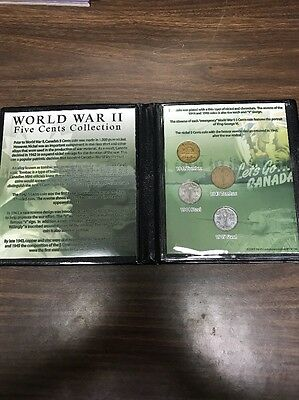World War 2 Five Cent Collection Canadian