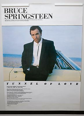 """Bruce Springsteen """"Tunnel of Love"""" 1987 Sony JAPAN Promo Only Poster rare"""