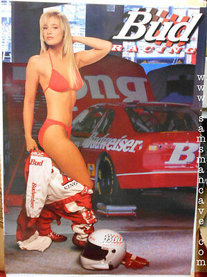Budweiser Racing Girl Poster