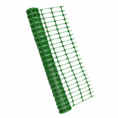 Green Barrier Fencing Plastic Mesh Safety Netting Event Fence 80gsm - 1m x 25m