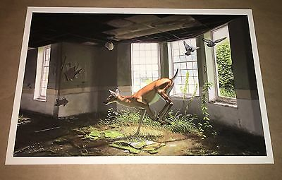 Josh Keyes Print with COA Afternoon Of A Faun Mint Condition