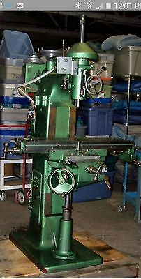 ** SINGLE PHASE ** Millmaster #501 USA Vertical Milling Machine, Power Feed