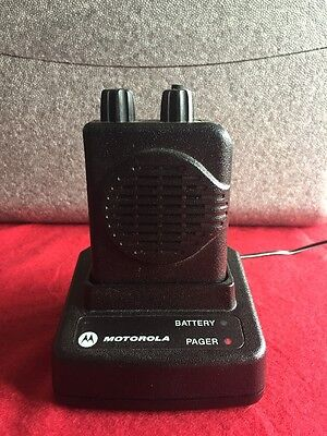 Motorola Minitor V (5) VHF 151-159 MHz 2CH SV Pager A03KMS9239BC w/StandardChrgr