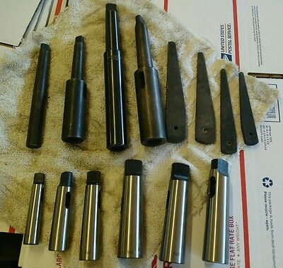 Industrial Morse extended Taper Sleeves LOT Lathe/Drilling