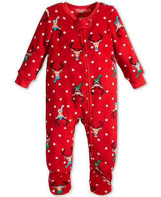 CHARTER CLUB $34 NEW 0643 Jumpsuit Pajama Unisex Baby Toddler One-Piece 12 MO