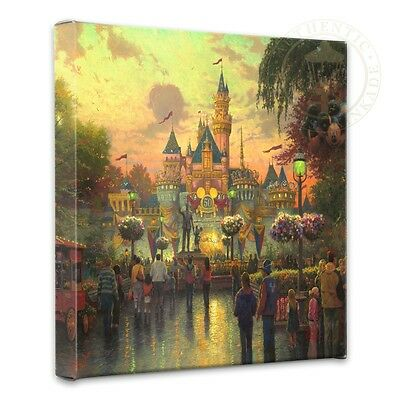 Thomas Kinkade Disney Disneyland, 50th Anniversary 14 x 14 Gallery Wrapped