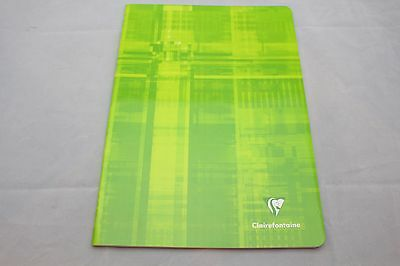 """Clairefontaine Staplebound Notebook  8"""" X 11"""" Lined Green"""