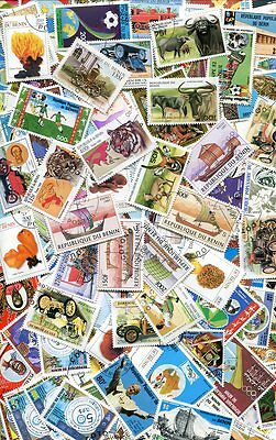Beautiful Collection Of 200 Benin Stamps - All Different - No Damaged Or Hinged!