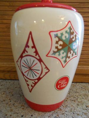 Coca Cola Ceramic Cookie Bisquit Jar Things Go Better with Coke Christmas #4203