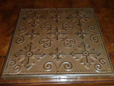 "Decorative Tin Ceiling Tile Panel Wall Art 14"" x 14"" Panel Plaque"