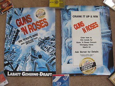 Guns N' Roses Promo Poster Set Canada, Use Your Illusion Tour Winnipeg 3-24-1993