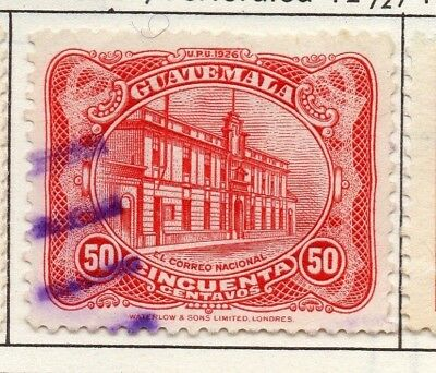 Guatemala 1926 Early Issue Fine Used 50c. 139622