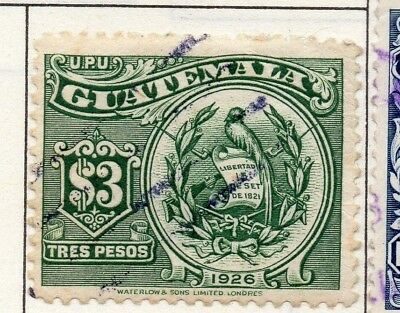 Guatemala 1926 Early Issue Fine Used $3. 139624