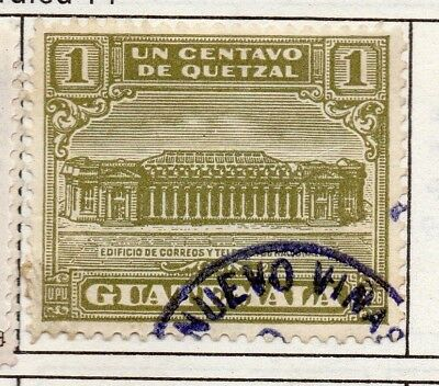Guatemala 1927 Early Issue Fine Used 1c. 139629