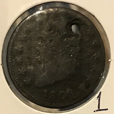 1808 1C Classic Head Large Cent: Holed: Make an Offer (1)