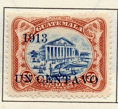 Guatemala 1902-22 Early Issue Fine Mint Hinged 1c. Surcharged Optd 139660