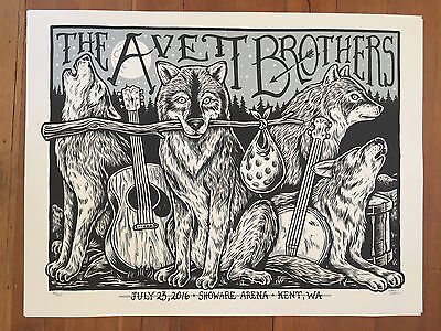 Avett Brothers Kent, WA Gig Poster 07/23/2016 by Chad Eaton MINT (S/N #60/200)
