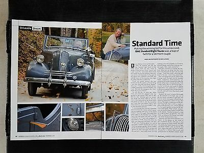 1946 Standard Eight Tourer - 4 Page Article - Free Shipping
