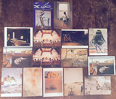 post cards Salvador Dali 15 cards from museum shops 1980s