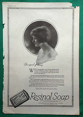1919 Woman's Home Companion Magazine Ad ~ Resinol Chemical Soap ~ Baltimore
