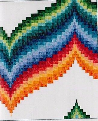 Cosmic Wave - pieced bargello quilt PATTERN in 3 sizes - Patti Carey