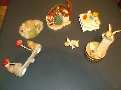 Lot Of 3 Damaged Music Boxs Plus Other Easy Fixes Bears Teeter Totter Angel Pian