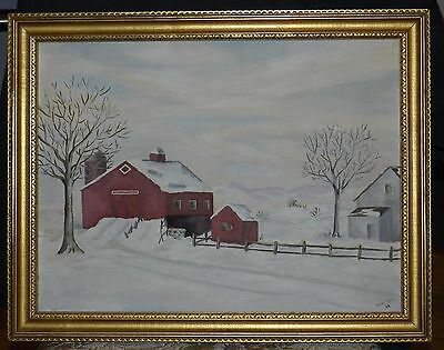 Vintage Bucks Co, Pa. Oil Painting on Board Signed (Irene Rittle AB)