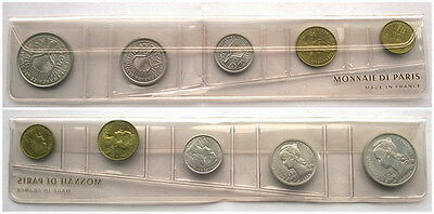 French Somaliland 1965 FDC Mint Set of 5 Coins,UNC