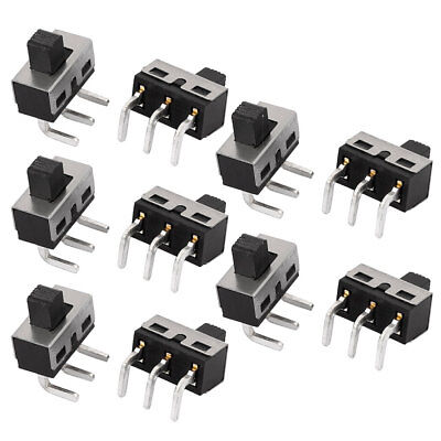 10Pcs AC 250V 2A 2 Position 3P SPDT Micro Slide Switch Power Switch Latching