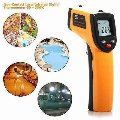 Laser LCD IR Infrared Digital Thermometer Heat Meter Temperature Measuring Gun F
