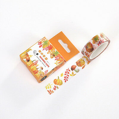 Autumn paper Sticky Adhesives Decorative stickers Masking Washi Tape 15mmX7m