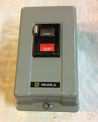 SQUARE D AC MANUAL MOTOR STARTER, 2510MCG3 -up to 7 1/2 hp 230 volts