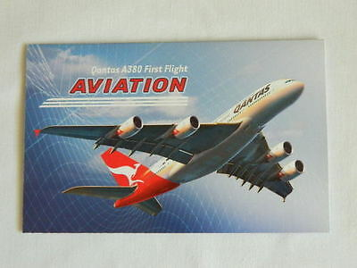 Australia - 2008 - Aviation Qantas A380 First Flight Miniature Sheet Stamp Pack