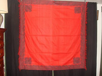 Antique C1800-20 Red Silk Paisley Shawl Botehs Within a Boteh Provenance Ex Cond
