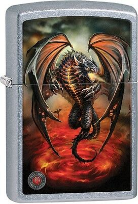 Zippo Anne Stokes Collection Dragon Street Chrome WindProof Lighter NEW 29349