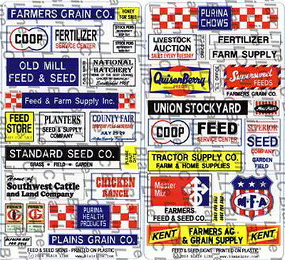 Blair Line 57 Feed & Seed Store Signs