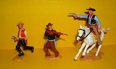 Timpo 3x Cowboy G3 Reiter Wildwest Western Figur Gangster Toys (3)