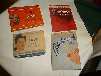 #830 vtg MIXED LOT of 4 Hair Net in Adv package