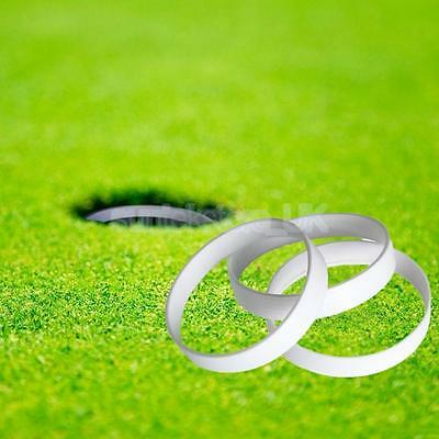 3x Golf Putting Green Hole Cup Ring Golf Field Accessory 11cm Diameter White