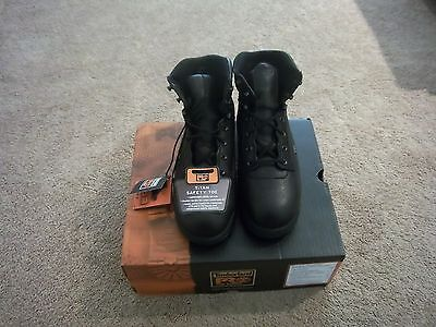 New Timberland Pro Series Safety Toe Work Boots Black 10.5 M