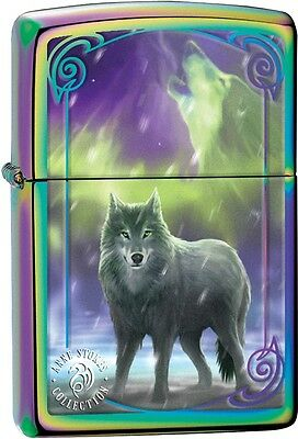 Zippo Anne Stokes Collection Wolf Spectrum WindProof Lighter NEW 29348