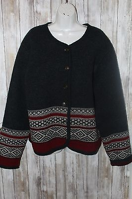 Vintage Tally Ho Boiled wool Jacket Nordic style Xl Gray