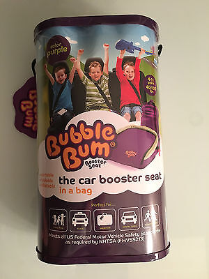Bubble Bum Portable Car Booster Seat (Purple) $$PRICE REDUCTION$$