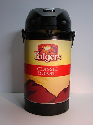 Folgers Commercial  Coffee Pump Dispenser Thermos Hot or Cold Beverages