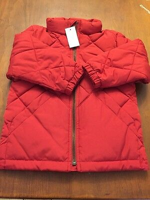 Baby Gap Quilted Winter Jacket Size 2T Red
