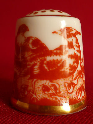 Royal Crown Derby - Red Aves Collectors Thimble