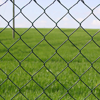 4ft GREEN PVC COATED GALVANISED CHAIN LINK 2.7mm WIRE FENCE FENCING 1.2m x 10m
